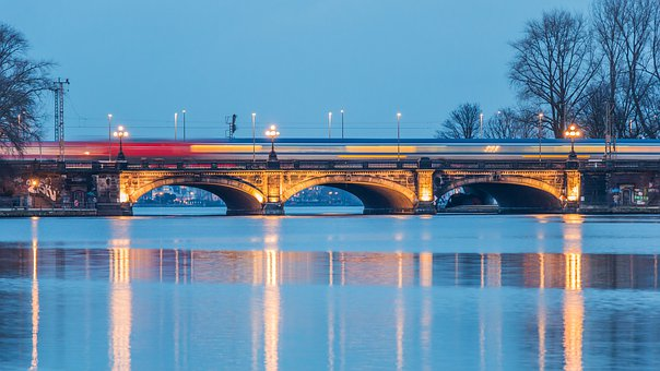 Waters, Panorama, Bridge, Travel, Transport System