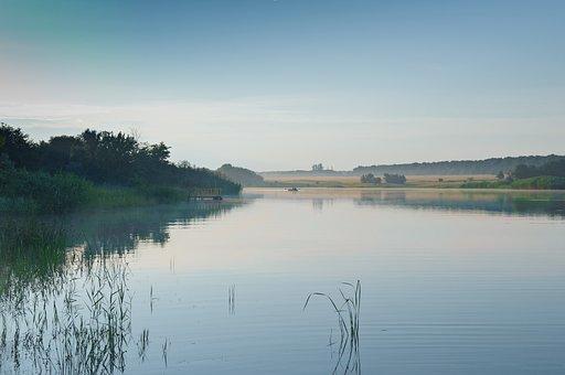 Water, Nature, River, Reflection, Lake, Morning, Dawn