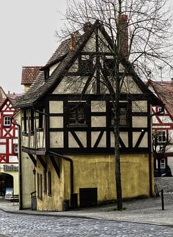 Fachwerkhaus, Historically, Old Town, Building, Roof