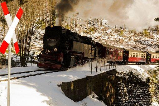 Narrow Gauge Railway, Snow, Winter, Boulder, Resin
