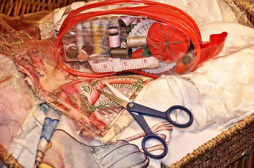 Sewing, Needlework, Craft, Needle, Scissors, Spool