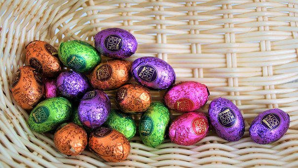 Shopping Cart, Sreberka, Eggs, Chocolates, Easter