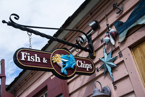 Street, Signalise, Outdoors, Travel, City, Fish, Chips