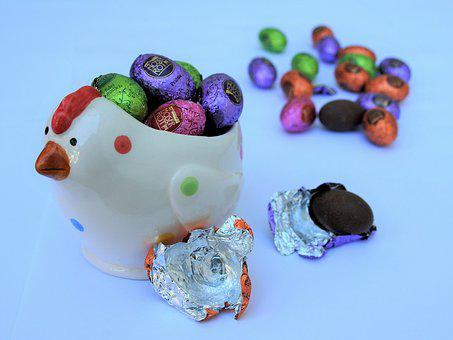 Chocolates, The Hen, Eggs, Easter, Color, Tasting