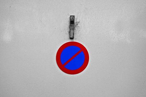 No Parking, Traffic Sign, Garage Door, Door, Entrance