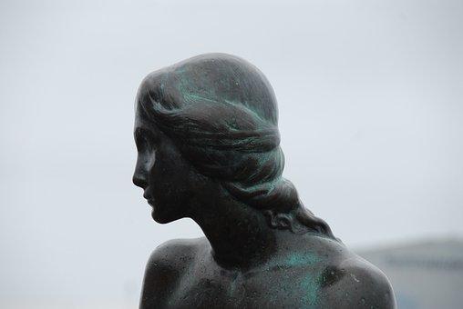 Statue, Sculpture, Art, Bronze, Travel, Little Mermaid