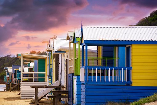 Bathing Box, Beach, Summer, Architecture, House