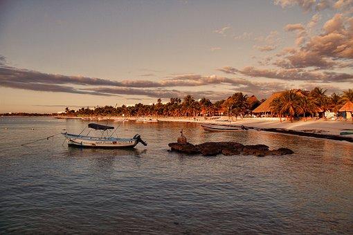 Water, Sunset, Dusk, Sea, Dawn, Sunrise, Summer, Beach