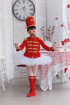 Soldier, Ballet, Ballerina, Costume, Nutcracker, Girl