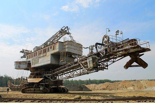 Industry, Machine, Excavator, Absetzer