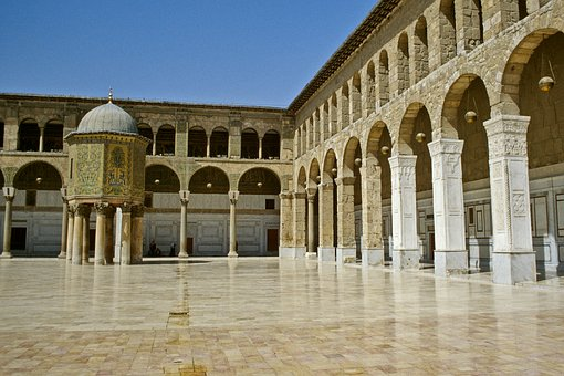 Damascus, Syria, Umayyad, Mosque, Omajjaden Mosque
