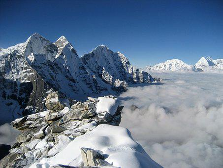 Snow, Mountain, Mountain Peak, Glacier, Ice, Nepal