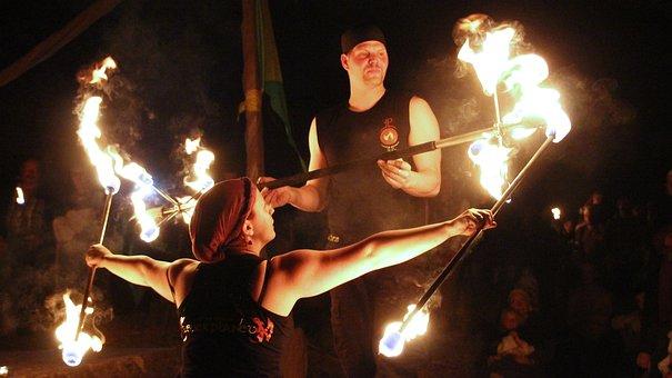 Flare-up, Performance, Festival, Music, Smoke