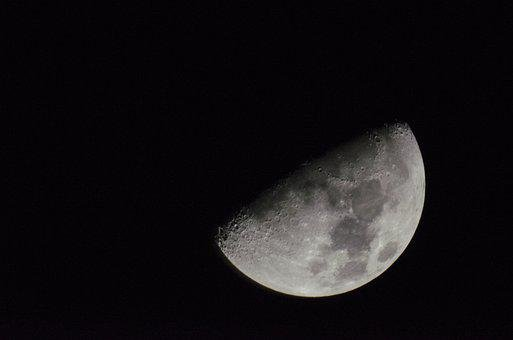 Astronomy, Moon, No One, Nature, Darkness, Crater