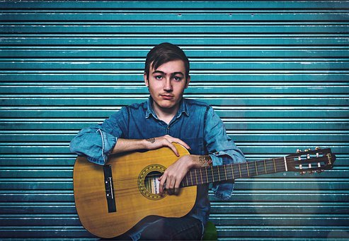 Music, Musician, Portrait, Guitar, Man, Teen, Boy
