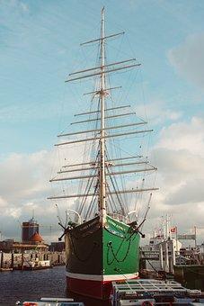 Hamburg, Port, Rickmer Rickmers, Sailing Vessel