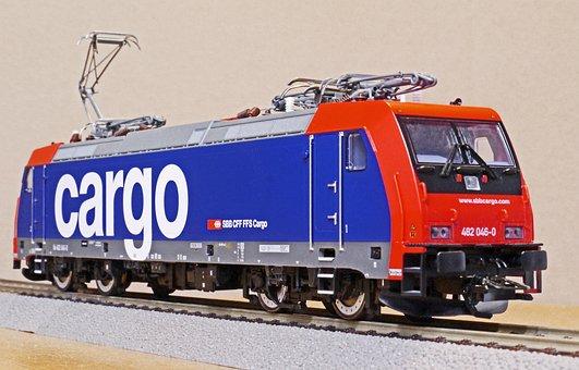 Electric Locomotive, Model, Scale H0, Sbb-cargo