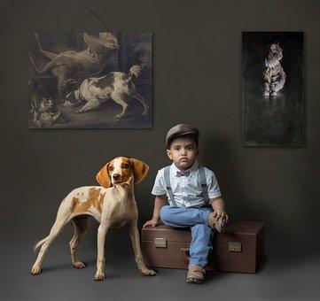 Dog, Canine, Pet, Mammal, People, Portrait, Adult, Sit