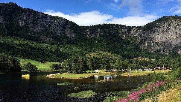 Nature, Waters, Lake, Travel, Panorama, Sky, Blue