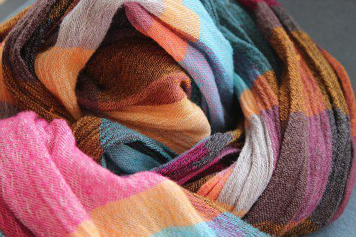 Scarf, Color, Textile, Texture, Colorful, Multicolored