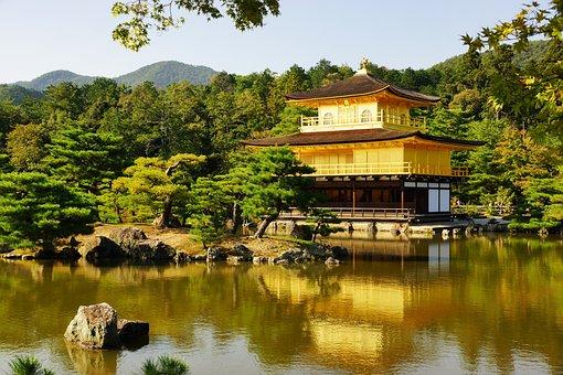 Waters, Nature, Lake, Tree, Travel, Japan, Kyoto