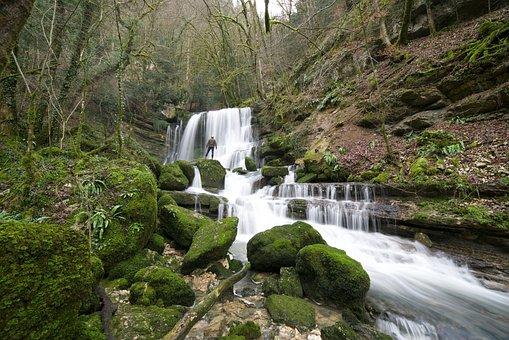 Nature, Cascade, Flow, River, Doubs, Jura, Verneau