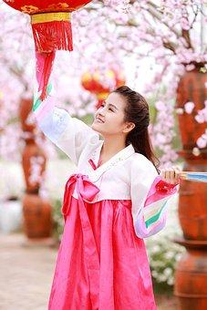 Kimono, Dress, Beautiful, Traditional, Woman, Girl
