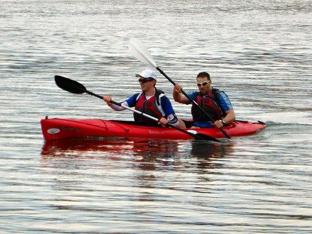 Canoeing, Paddlers, Kayaking, Sport, Active, Action