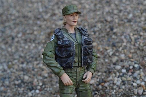 Action Figure, Military, Army, Woman Soldier, Female