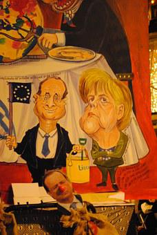 François Hollande, Angela Merkel, Lantern, Carnival