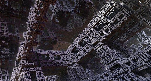 Virtual City, Utopia, Architecture, Fractals
