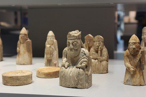 Chess, Chessmen, Lewis Chessmen, British Museum, Pieces