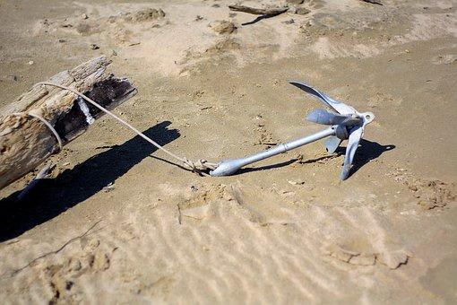 Sea, Beach, Sand, By The Sea, Travel, Boats, Anchor