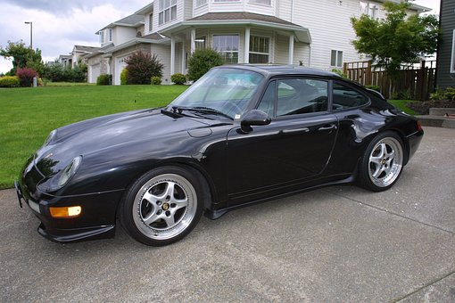 Car, Porsche, Metallic Black, 911, 993, 1995, Carrera