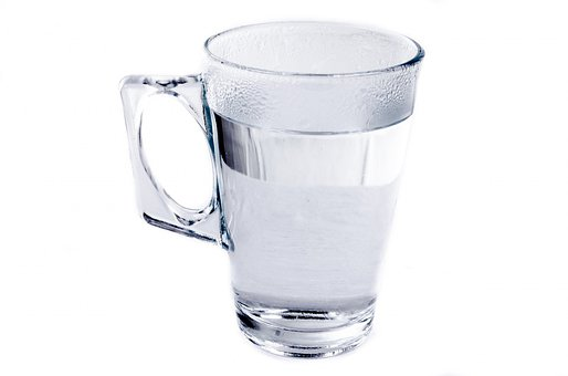 Drink, Cup, Water, Profile, Isolated, Relief, Cold