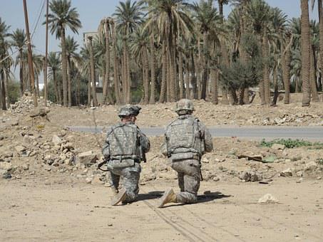 Soldiers, Iraq, Camouflage, Military, War, Army, Combat
