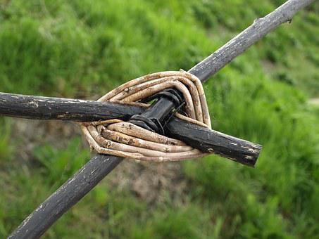 Wood, Connection, Cross, Knot, Together, Bars, Rod