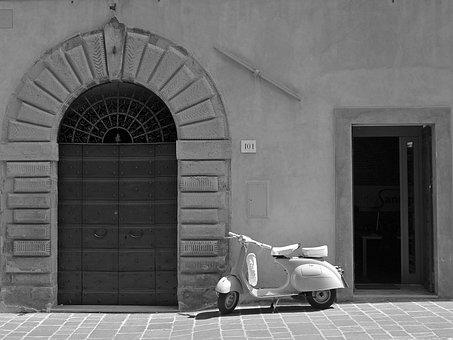Wasp, Door, Motorcycle, Doors, Hot, Wall, Summer
