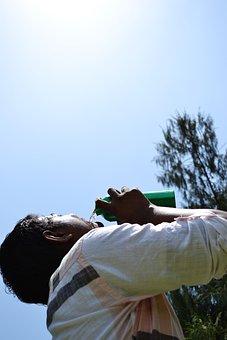 Thirsty, Drinking, Drinking Water, Water, Drink, Bottle