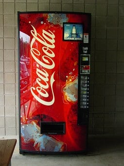 Vending Machines, Coca Cola, Coke Machine, Soda, Drink