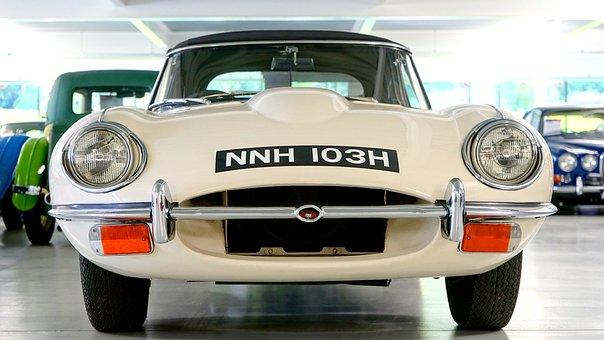 Car, Jaguar, E Type, Auto, Vehicle, Retro, Style