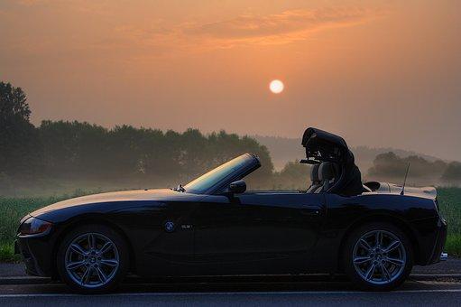 Bmw, Z4, E85, Roadster, Sunrise, Pkw, Open, Side