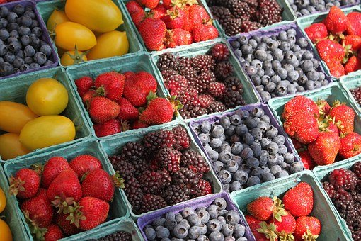 Farmers, Market, Berries, Fruit, Farmers Market, Fresh