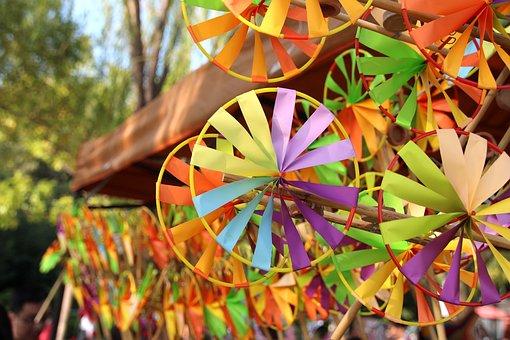 Windmill, Toys, Color, Festival, Peddler