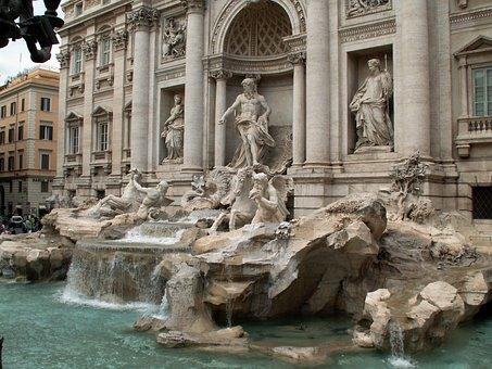 Trevi, Fountain, Fontana Di Trevi, Rome, Italy, Europe