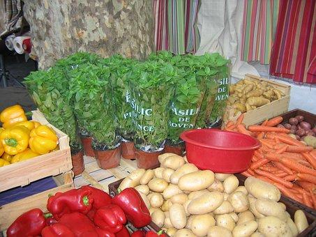 Market, Vegetables, Stall, Fresh, Food, Farmers Market