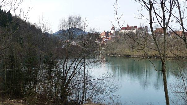 Allgäu, Füssen, Lech, St Mang Abbey