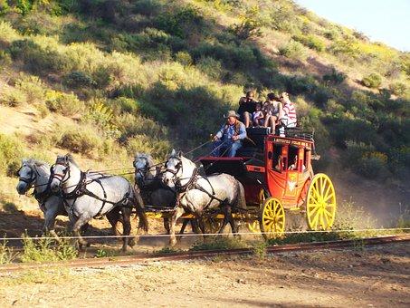Stagecoach, Wild West, Cowboys, Horses, Coach