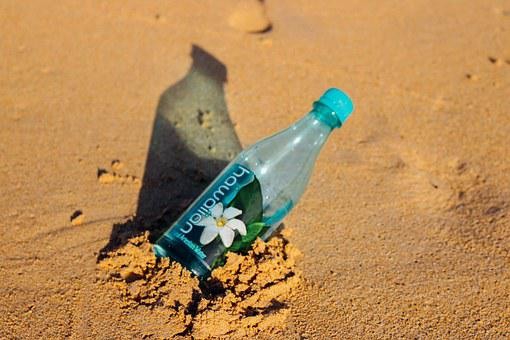 Sand, Beach, Bottle Water, Water, Drink, Hot, Summer
