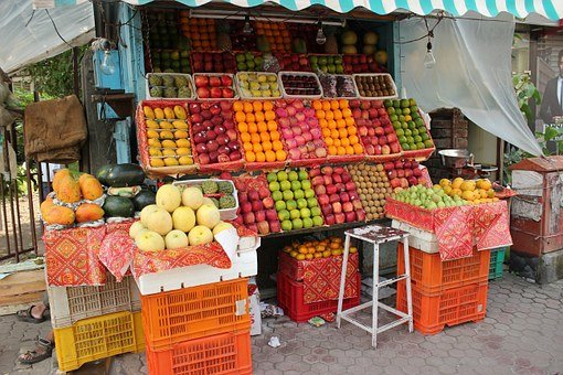 Fruit Shop, Fruit Vendor, Street, India, Vendor, Fruits